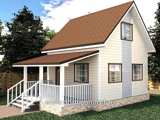 Построить домик из бруса цена