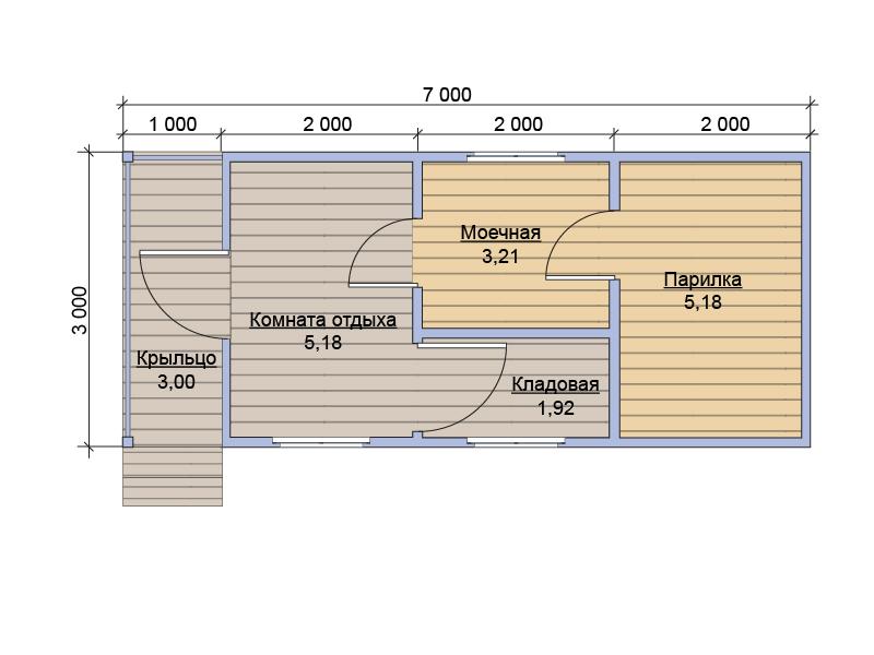 Дизайн бани внутри 3 на 4 190
