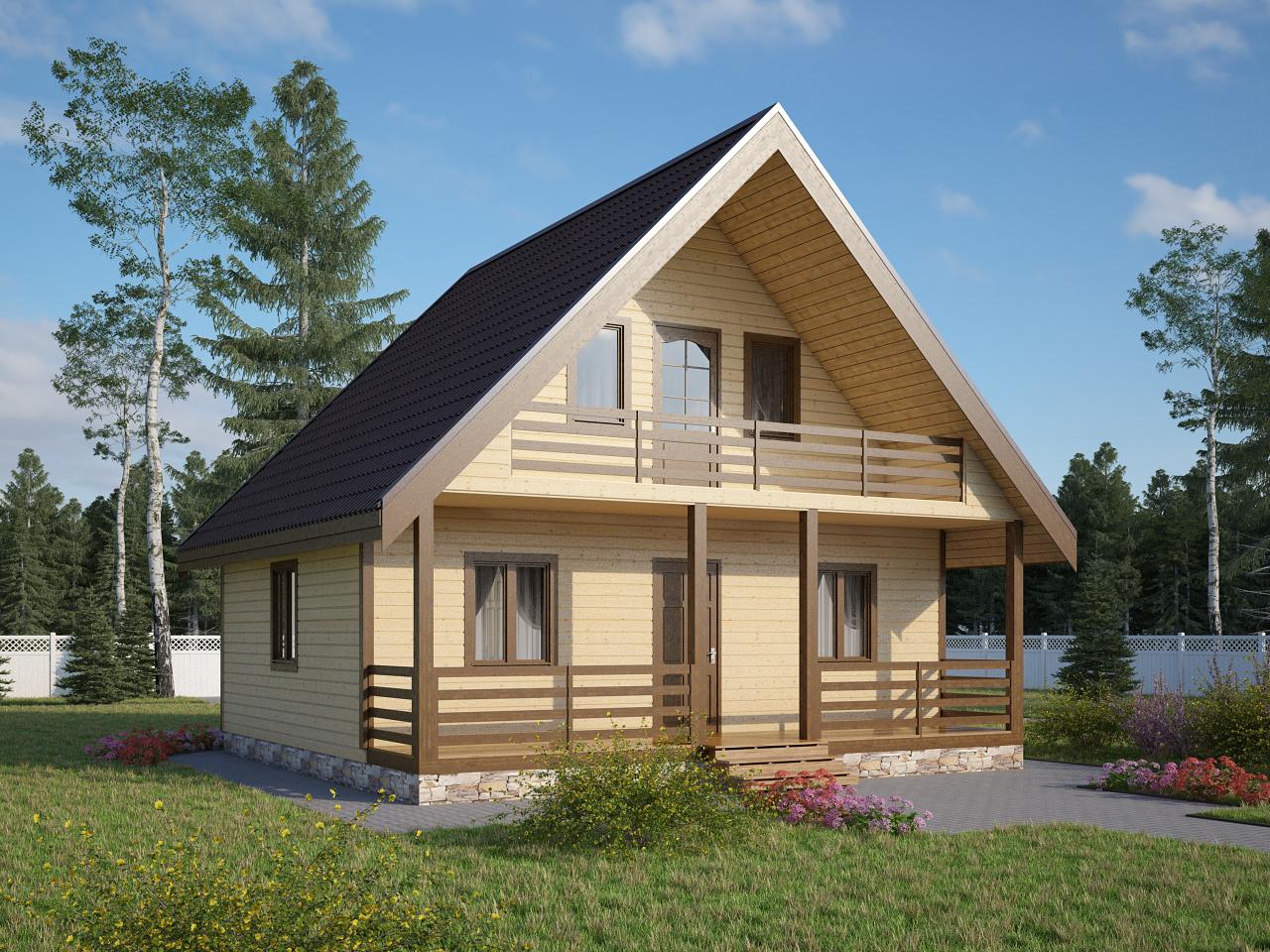 Деревянные дачные дома от компании Детинец