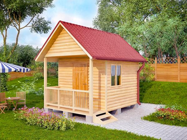 Дачный каркасный домик 3х3 фото не дорогой 200