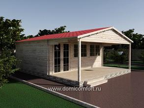 Дачный домик 6050 с верандой