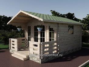 Дачный домик 3838 с верандой