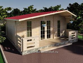 Дачный домик 6045 с верандой