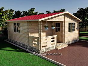 Дачный домик 6000х6000
